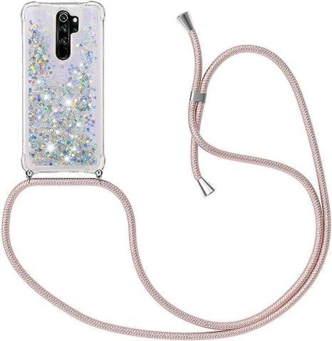 MXKOCO Funda con Cuerda para Xiaomi Redmi Note 8 Pro Carcasa de movil con Cuerda para Colgar: Amazon.es: Electrónica