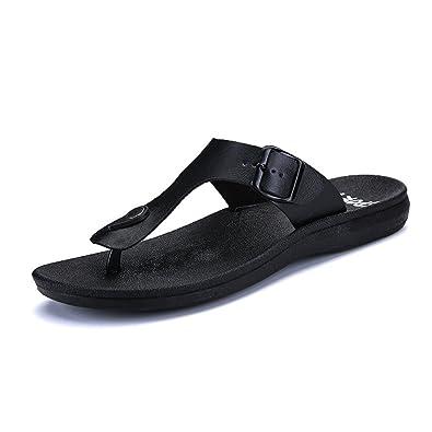 Rawdah Summer Men Flip Flops Male Slippers Men Outdoor Walking Casual Open  Toe Shoes Fashion Non-Slip Beach Sandal Rain Day Black Brown  Amazon.co.uk   Shoes ... 4f45bc8fa
