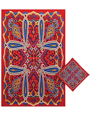 Sunshine Joy 3D 80's Paisley Hippie Tapestry Tablecloth Beach Sheet Wall Art Huge 60x90 Inches with FREE BANDANA (Table 22 Stake)