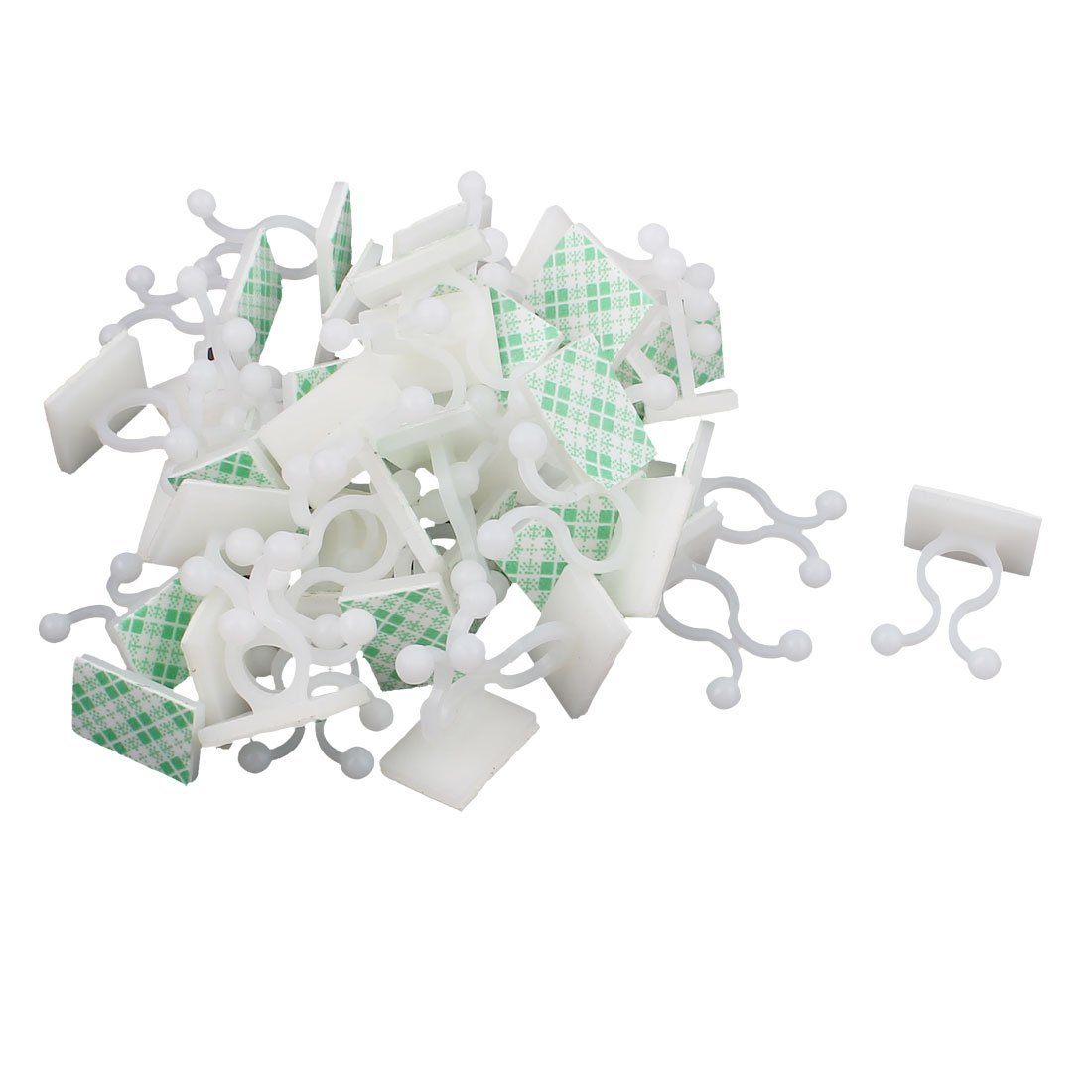 Giro KL-3 White auto-adhesivo de base de bloqueo del alambre del sostenedor de 50 PC - - Amazon.com