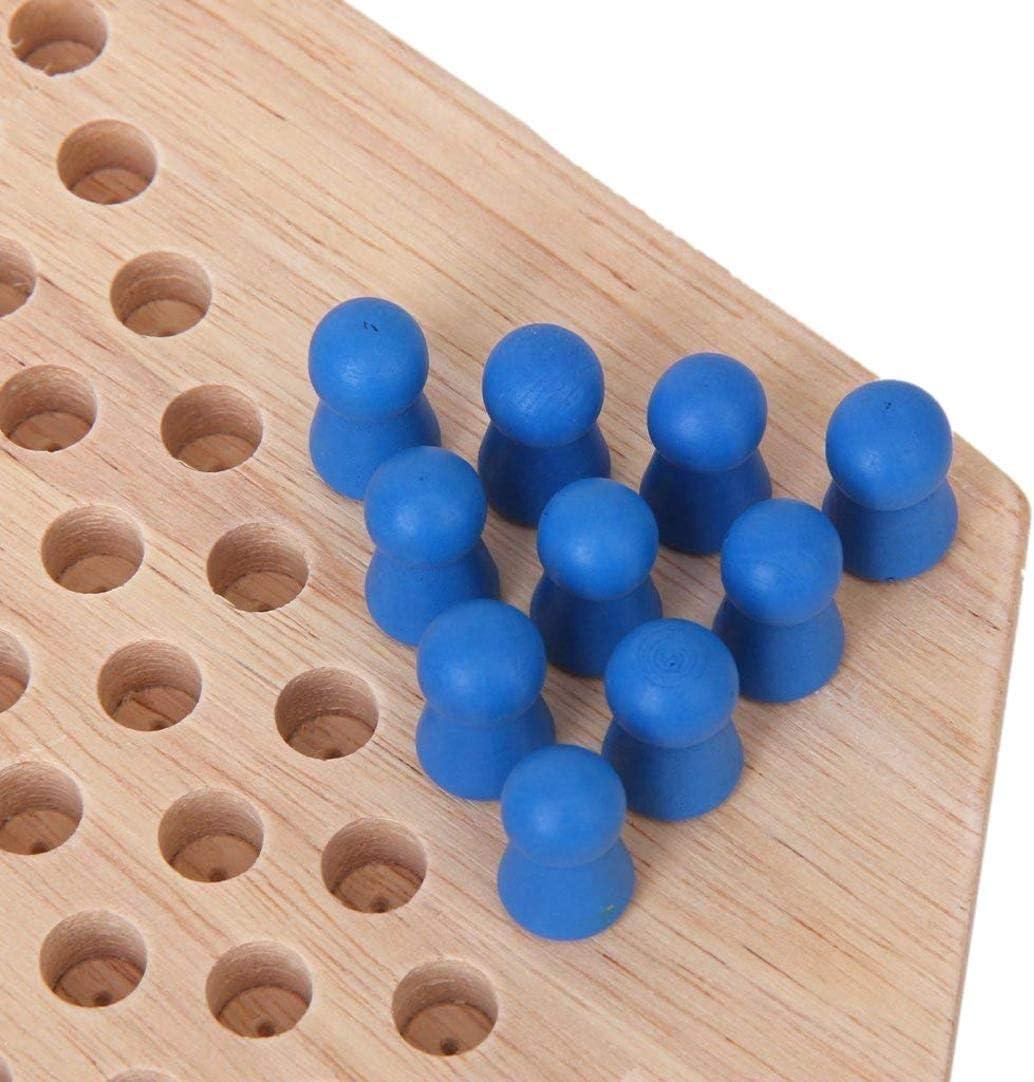 ZXYAN Hexagonales de Madera China de Damas de la Familia Tradicional Juego de Conjunto: Amazon.es: Hogar