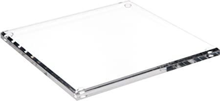 Plymor Clear Acrylic Square Beveled Display Base, 0.5 H x 9 W x 9 D