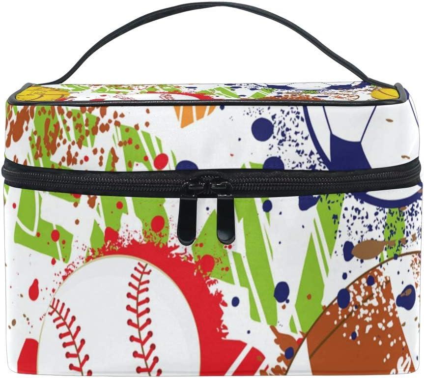 Bolsa de Maquillaje de Viaje Colorida para balón de béisbol, Rugby ...