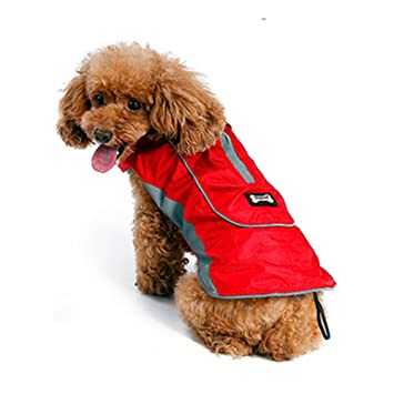 Akemiao Dog Coat Winter Warm Jacket Pet Clothes With Harness Hole