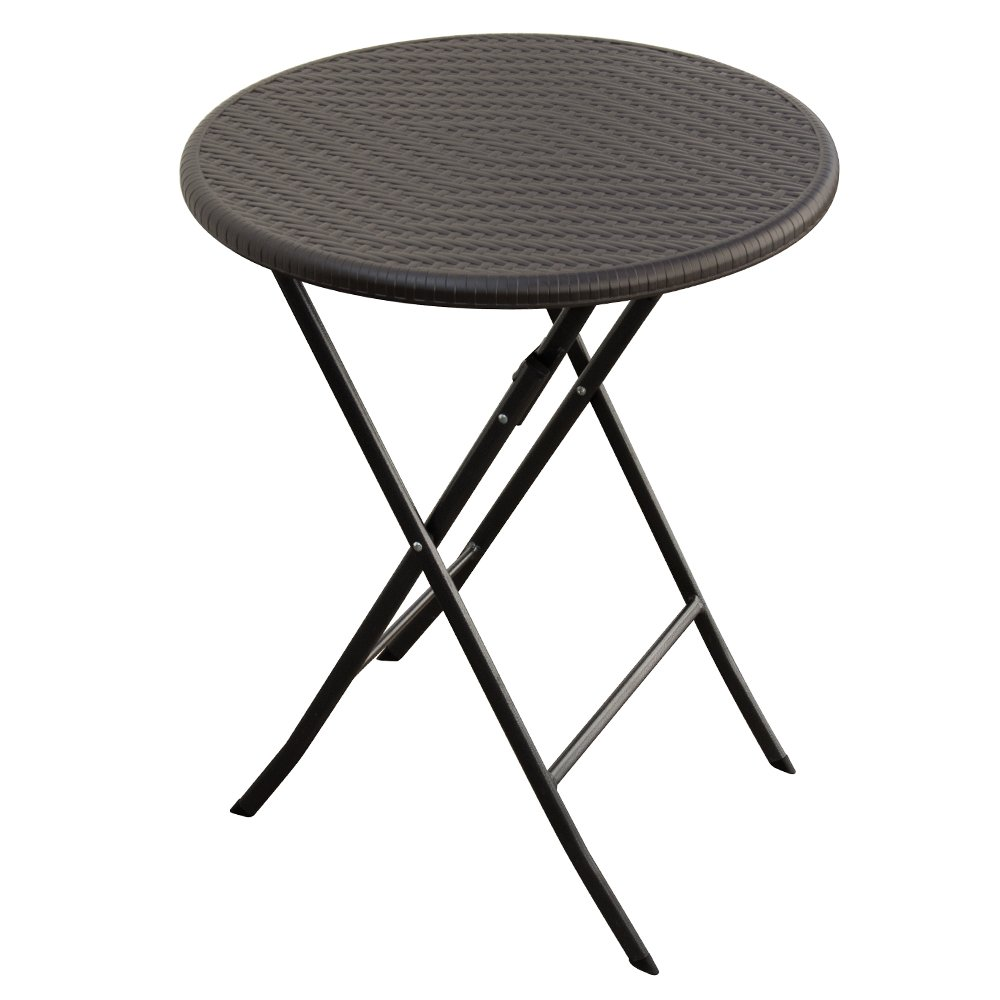 Tavolo 60cm in resina e acciaio richiudibile pieghevole picnic casa 45258 Evergreen