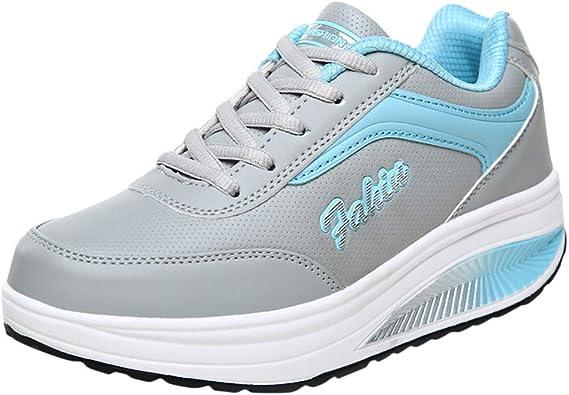 Siswong Chaussures Femme ete Pas Cher Shake Chaussures Chaussures à Bascule, Chaussures pour Femmes, Chaussures à Semelles compensées, Baskets