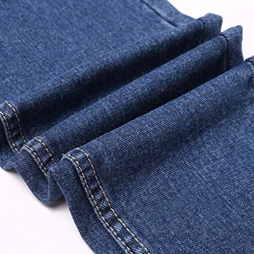 Estiramiento Con Bolsillos De Battercake Slim Boyfriend Fit Jeans Dunkelblau Casuales Las Mujeres Acogedores Mezclilla Alta Botones Cintura Pantalones 6ZI6F