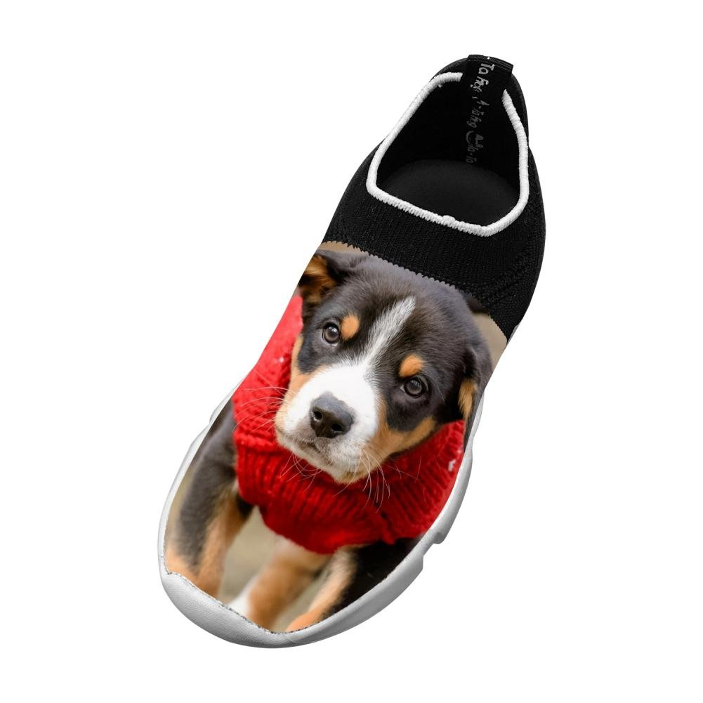 Dog Puppy Flyknit Shoes Light Sports Free Running Shoes For Kids