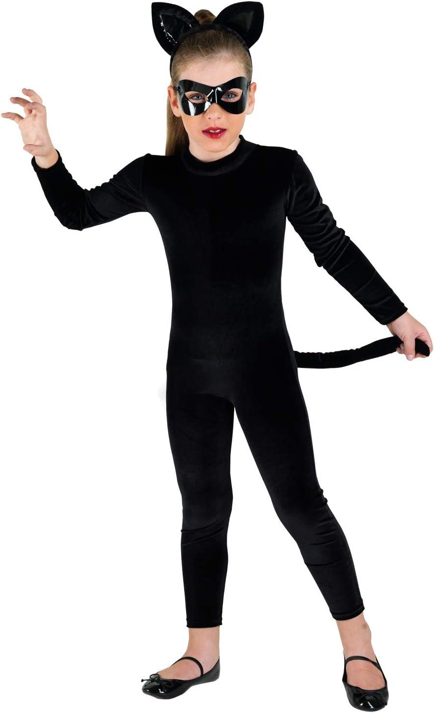 chiber Disfraces Disfraz Niña Gato Negro (Talla 6 (4-6 años ...