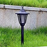 Solar Powered Zapper,Enhanced Outdoor Flying Insect Killer,Hang or Stake in the Ground- Cordless Garden Lamp for Home,Indoor and Outdoor Use