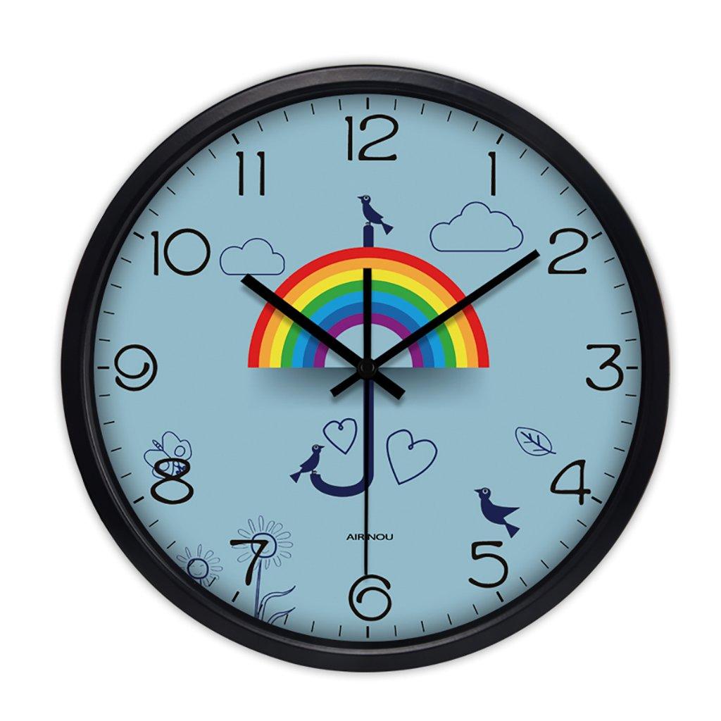 ベッドルームシンプルなミニマリストミュートウォールクロックリビングルームクリエイティブ現代のクォーツ時計 (色 : 1, サイズ さいず : 10in) B07FVWPPZS 10in|1 1 10in