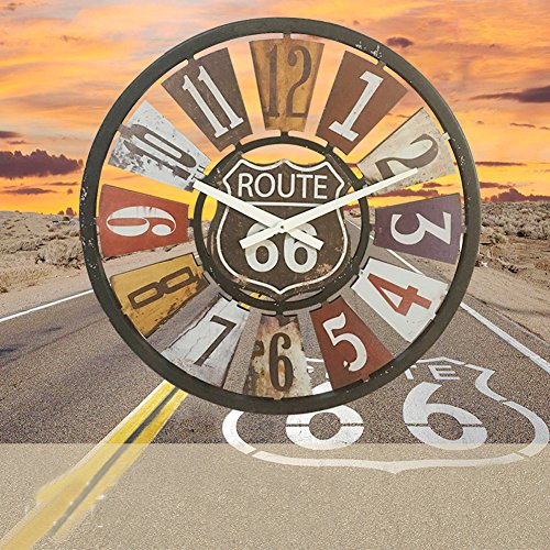 Aero Snail Vintage Retro Dia 15.8-inch Route 66 Indoor Silent Wall Clock Home Decor (Snail Wall Decoration)
