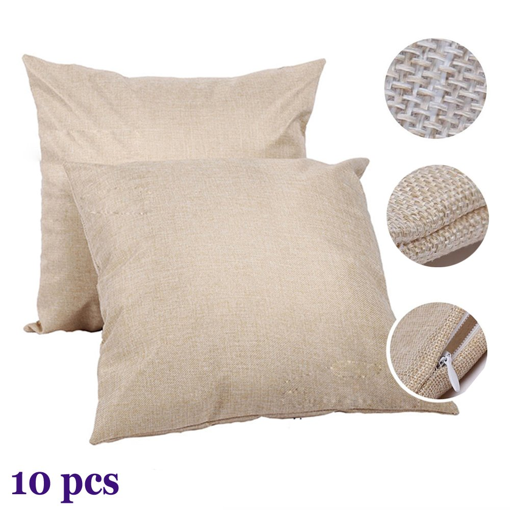 H E Linen 3d Sublimation Blank Pillow Case Fashion Cushion Pillowcase Cover For Heat Press Printing Throw Pillow Covers 10pcs Pack