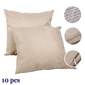HE Linen 3D Sublimation Blank Pillow Case Fashion Cushion Pillowcase Cover for Heat Press Printing Throw Pillow Covers (10pcs/Pack)
