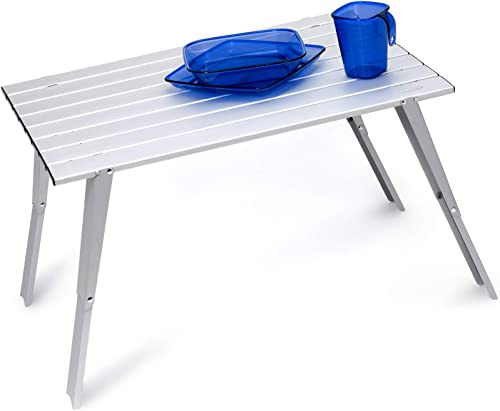 GSI Outdoors Aluminum Macro Table is Collapsible and Lightweight for Traveling and Car Camping