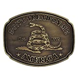Montana Silversmiths Men's American Gadsden Don't Tread On Me Heritage Gold One Size