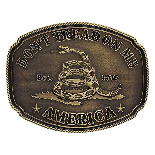 Montana Silversmiths Men's American Gadsden Don't Tread On Me Heritage Gold One Size (Dont Tread)