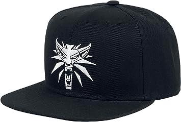 Gorra de béisbol medallón Witcher Wolf negro: Amazon.es ...