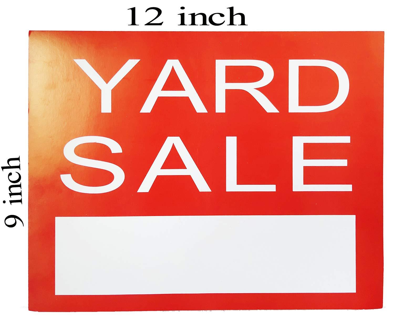 Señal de venta de patio - rojo Garaje Venta Yard Street ...