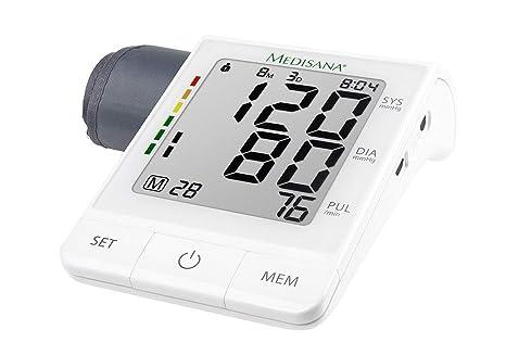 Medisana BU 530 Connect - Tensiómetro de brazo con detección de arritmias, clasificación de los valores según los estándares de la OMS: medición ...