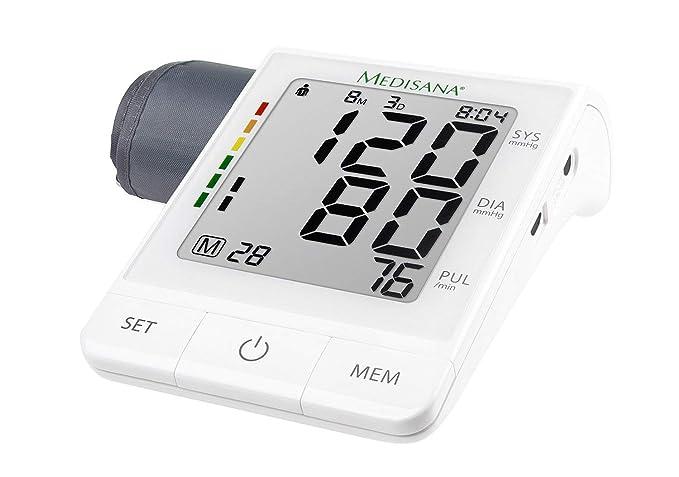 Medisana BU 530 51174 Monitor de Presión Arterial del Brazo Superior, Aplicación, Visualización de Arritmias, Escala de Colores de la Luz de Tránsito de la ...