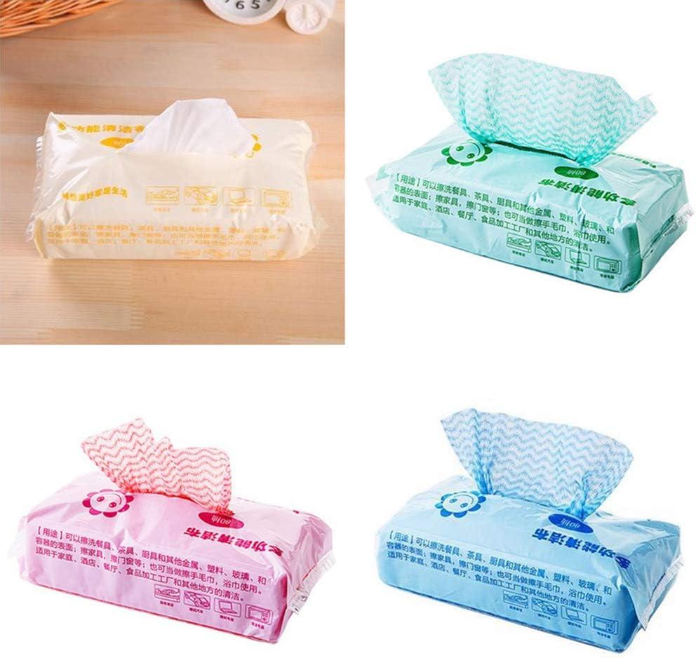 BESTONZON 80pcs lingettes jetables vaisselle lingettes de nettoyage chiffons de nettoyage de cuisine /éponge couleur al/éatoire