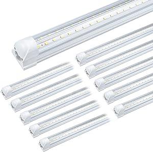 LED Shop Light 4ft for Garage, 36W 5000lm 6500k Shop Lighting, 4 ft T8 Led Tube Light Fixture, , T8 Integrated Led Bulbs for Workshop, Warehouse (10 Pack)