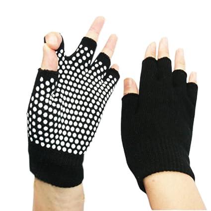 Amazon.com: Kylin Express Fingerless Gloves, Non Slip Yoga ...