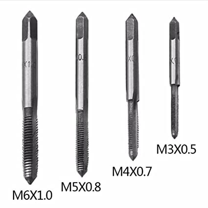 BIDE 4 PC Thread Taps For T-handle Tap Wrench M3 M4 M5 M6 Machine