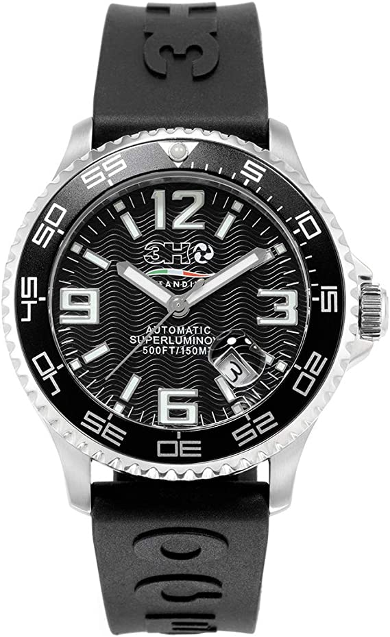 Automatic Watch 3h Italy Ods1n Oceandiver Superluminova 15 Atm Amazon Co Uk Watches