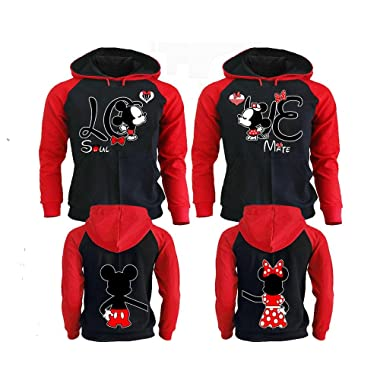 Mickey & Minnie Kissing Disney Couple Hoodies, Matching Couple Hoodies, His And Her Sweatshirts