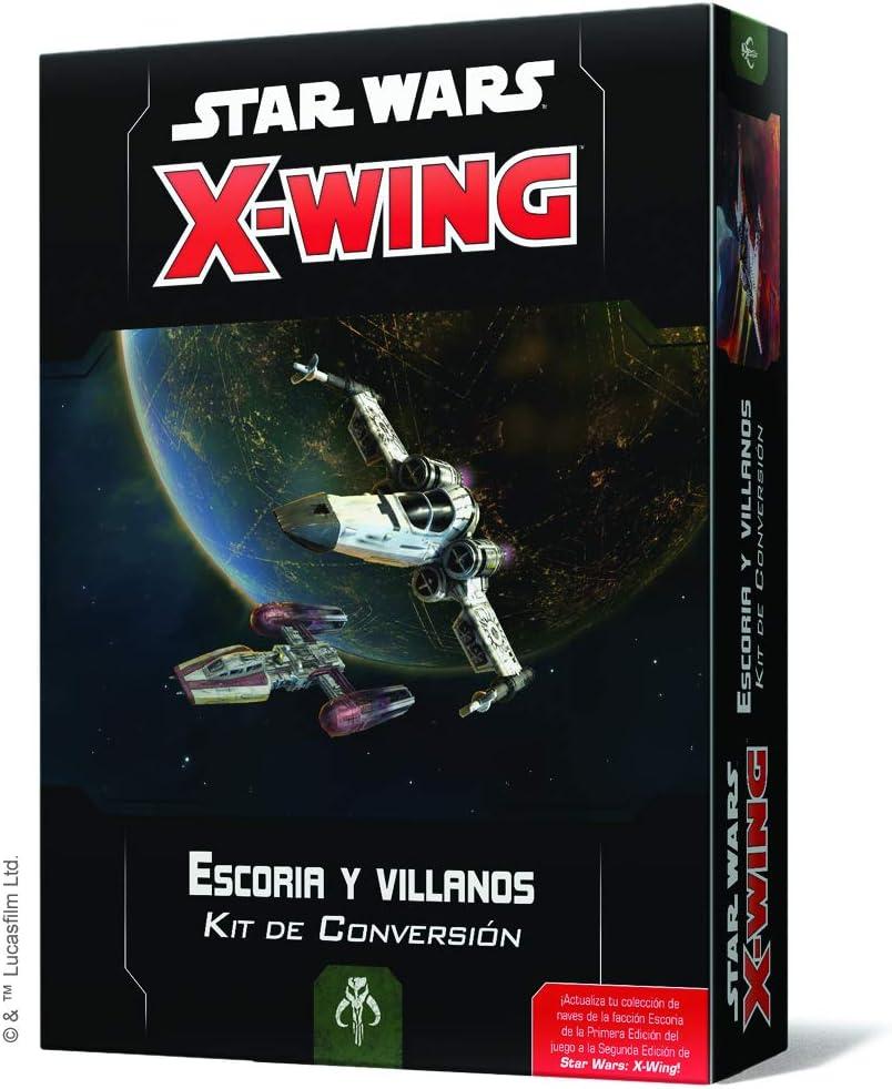 Fantasy Flight Games- SW X-Wing 2.0 - Escoria y Villanos: Kit de Conversión - Español, Multicolor (SWZ08ES): Amazon.es: Juguetes y juegos