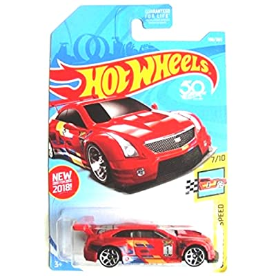 Hot Wheels 2020 50th Anniversary Legends of Speed '16 Cadillac ATS-V R 198/365, Red: Toys & Games