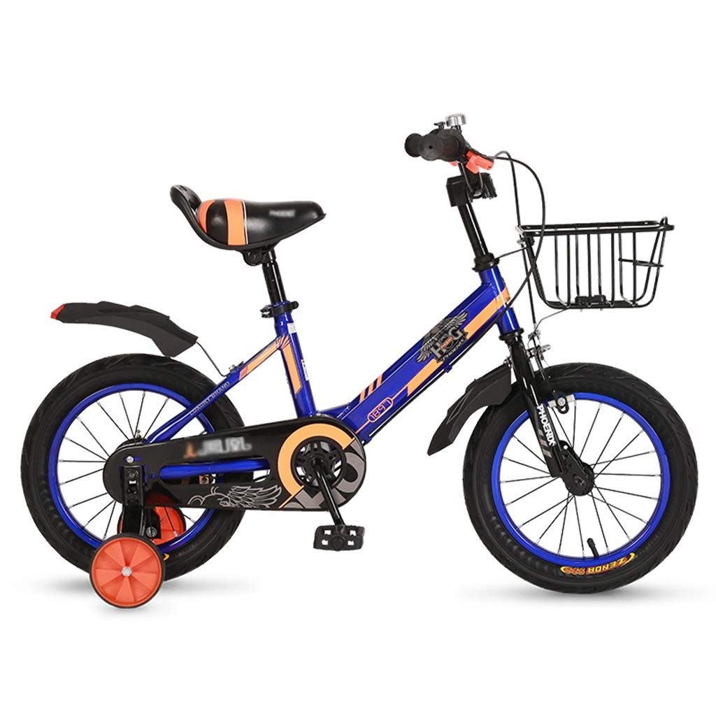 子供用屋外自転車 子供用ペダル自転車 男児用室内自転車 子供用自転車 310歳子供用三輪車 家庭用子供用バランス車 (Color : Blue, Size : 16inches) 16inches Blue B07RBKWG6T