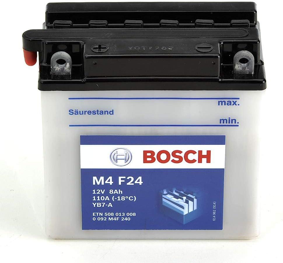 Bosch M4F24 Bater/ía motocicleta YB7-A 12V Plomo 8A//h-80A