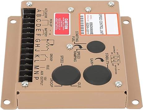 Regulador de velocidad del motor ESD5500E Controlador electr/ónico de velocidad del motor Regulador Generador Panel de control Controlador de velocidad del motor