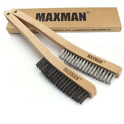 Amazon.com: MAXMAN - Juego de 2 cepillos de alambre de 14 ...