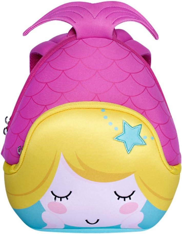 NOHOO Escuela de niños sirena 3D mochila impermeable bolsas de viaje (Púrpura)