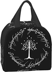 The Lord of The Rings Lunch Bags, Reusable Lunch Box Bags for Boys, Girls and Children, Hot and Cold Food Insulation Bags Portable Bento