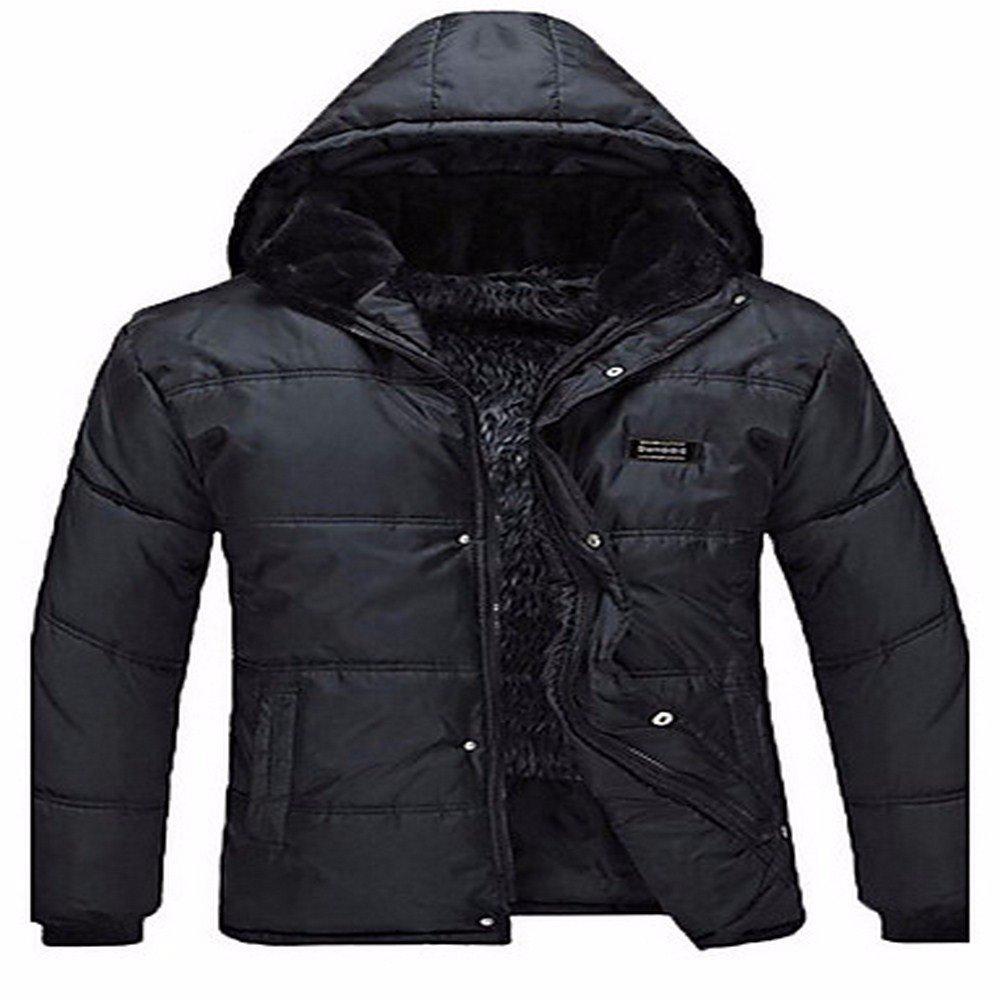 noir 3XL ZHUDJ L'épaississeHommest Des Hommes Plus Engraisser Père Chaud Et Confortable Veste De Coton