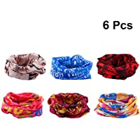 Beaupretty 6pcs Headband Breathable Bandana Headwear Unsex Seamless Elastic Printed Turban Sun Block Headwrap for Outdoor Sports Cycling Skiing (Random Color)