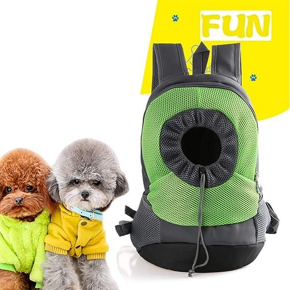 WWJHH-pet bag Mochila Porta Mascotas para Perros Bolsa De Tela Oxford Malla Transpirable Bolsa De Viaje PortáTil ArtíCulos para Mascotas (Cuatro Colores): ...