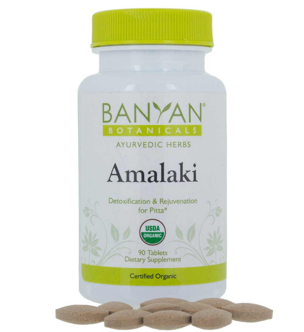 Banyan Botanicals Amalaki (Amla) - USDA Organic, 90 tablets - Emblica officinalis - Ayurvedic Antioxidant for Hair, Skin, Digestion*