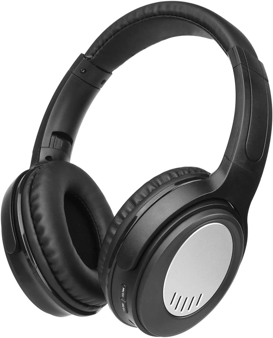 Dozod D772 Bluetooth Over Ear Headphones Hi-Fi Stereo Wireless Headphones Deep Bass with Case Foldable Wired Wireless FM SD Card Headphone with Mic for Phone PC TV – Black