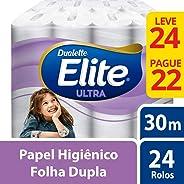 PAPEL HIGIENICO FOLHA DUPLA ELITE ULTRA L24P22 ROLOS DE 30M, Elite