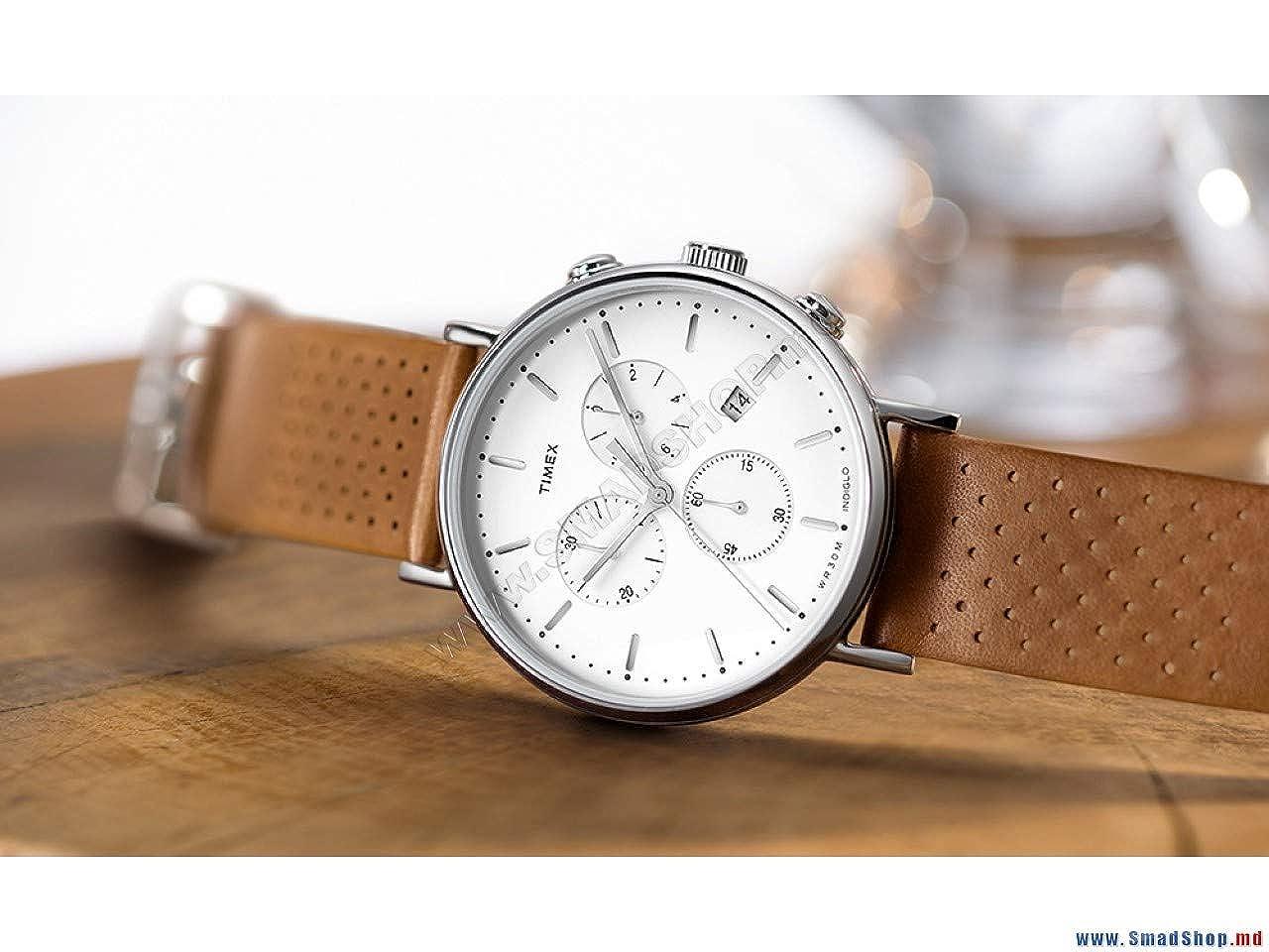 Quarz Unisex Uhr Analog Leder Erwachsene Mit Timex Armband oxBdCre