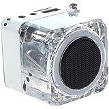 NIZHI Mini USB Altavoz Digital Portatil para Reproductor MP3 / 4 Musica Jugador Micro SD / TF(Plata)