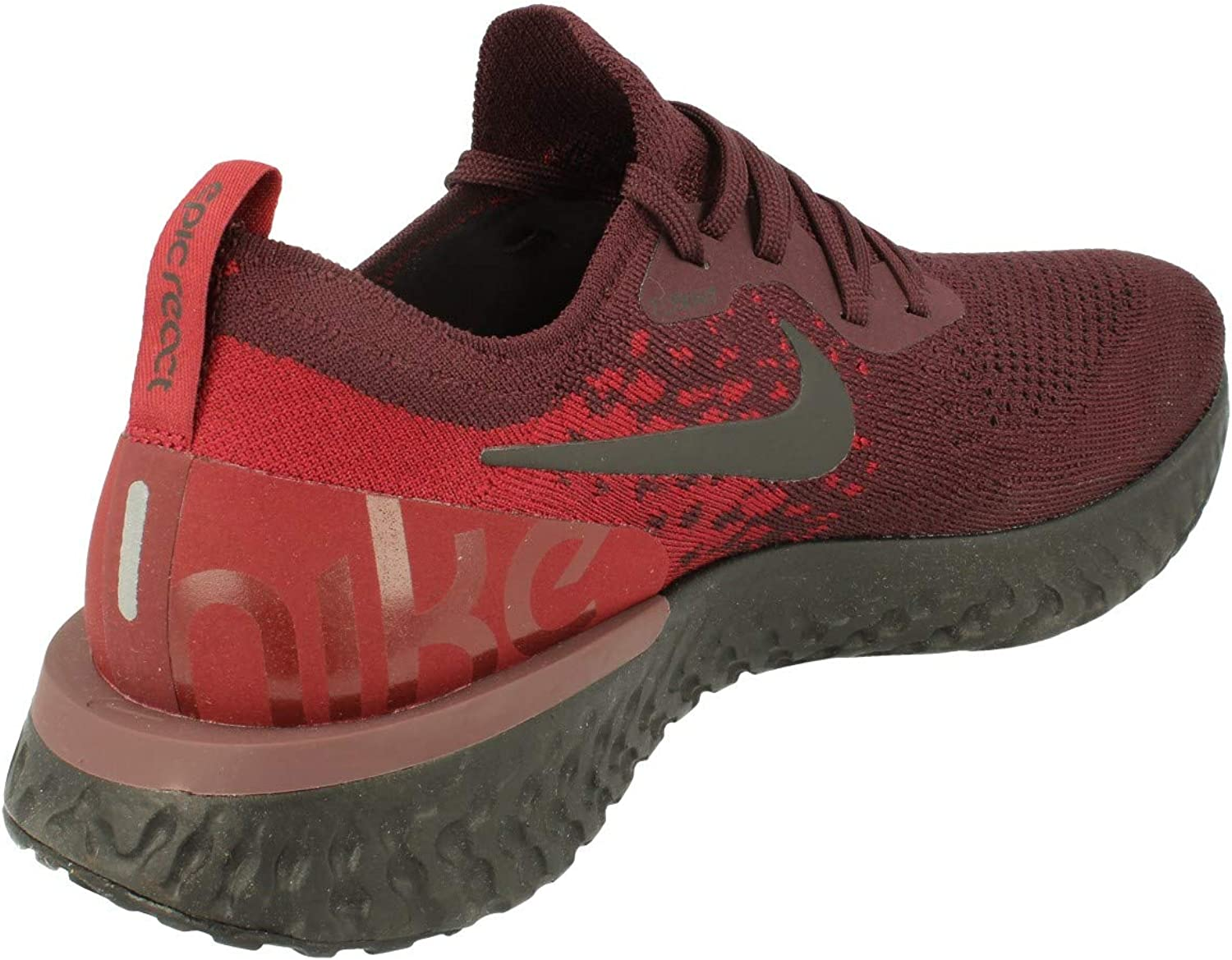Nike Epic React Flyknit Mens Running Trainers AT0054 Sneakers Shoes UK 7.5 US 8.5 EU 42, deep Burgundy Team red 600