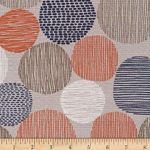 - Cloud 9 Organic Homestyle Barkcloth Stepping Stones Fabric, Red, Fabric By The Yard