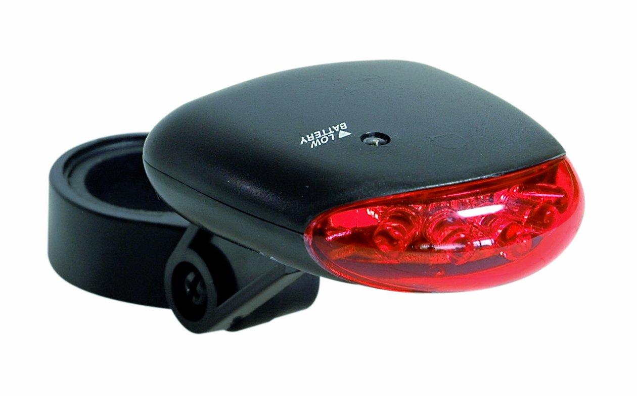 Büchel 51614 Kompakt - Fanalino posteriore per bicicletta, a 5 LED, colore: Nero Büchel